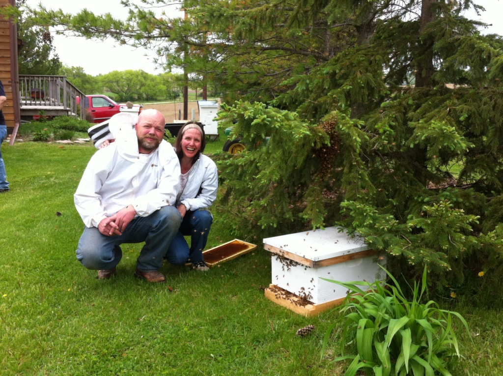 Honey bees swarm at beekeeping meeting!